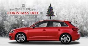 The Car Top Christmas Tree - The Only Christmas Tree for Your Car, Van Or Truck   Quick and Easy Installation   Colored LED Lights   Super Safe & Secure   Folds for Garages   Weatherproof
