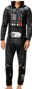 Briefly Stated Mens Hooded Darth Vader Costume Body Suit Pajama