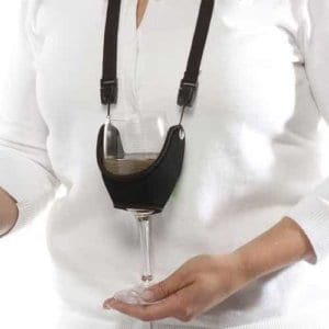 Wine Glass Holder Necklace; Perfect gift for girlfriends