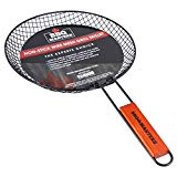 BBQ Masters Non-Stick Wire Mesh Grilling Skillet - Grill Topper Barbecue Pan - Cook Vegetables, Seafood, Meats