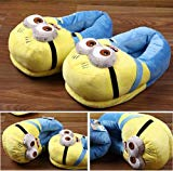 Despicable Me 2 Minion Figure Shoes Plush Toy Slippers Two-eye Big Smile