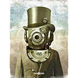 steampunk gears deep sea diver antique pocket watch surreal art poster...Buy it on Amazon.