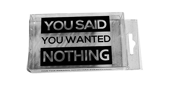 You Wanted Nothing