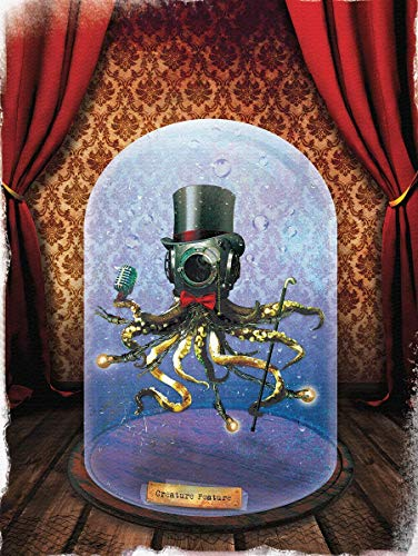 Carnival wall art deep sea diver helmet freakshow ocean kids decor octopus poster