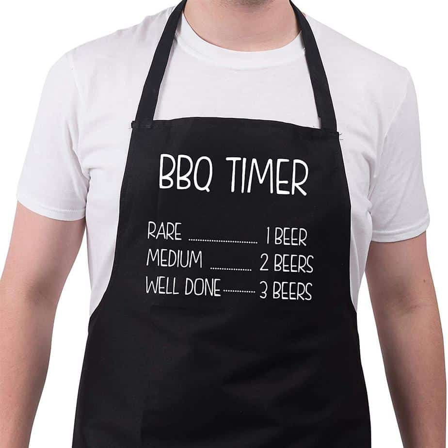 BBQ Apron Funny Aprons For Men BBQ Timer Barbecue Grill Gift Ideas
