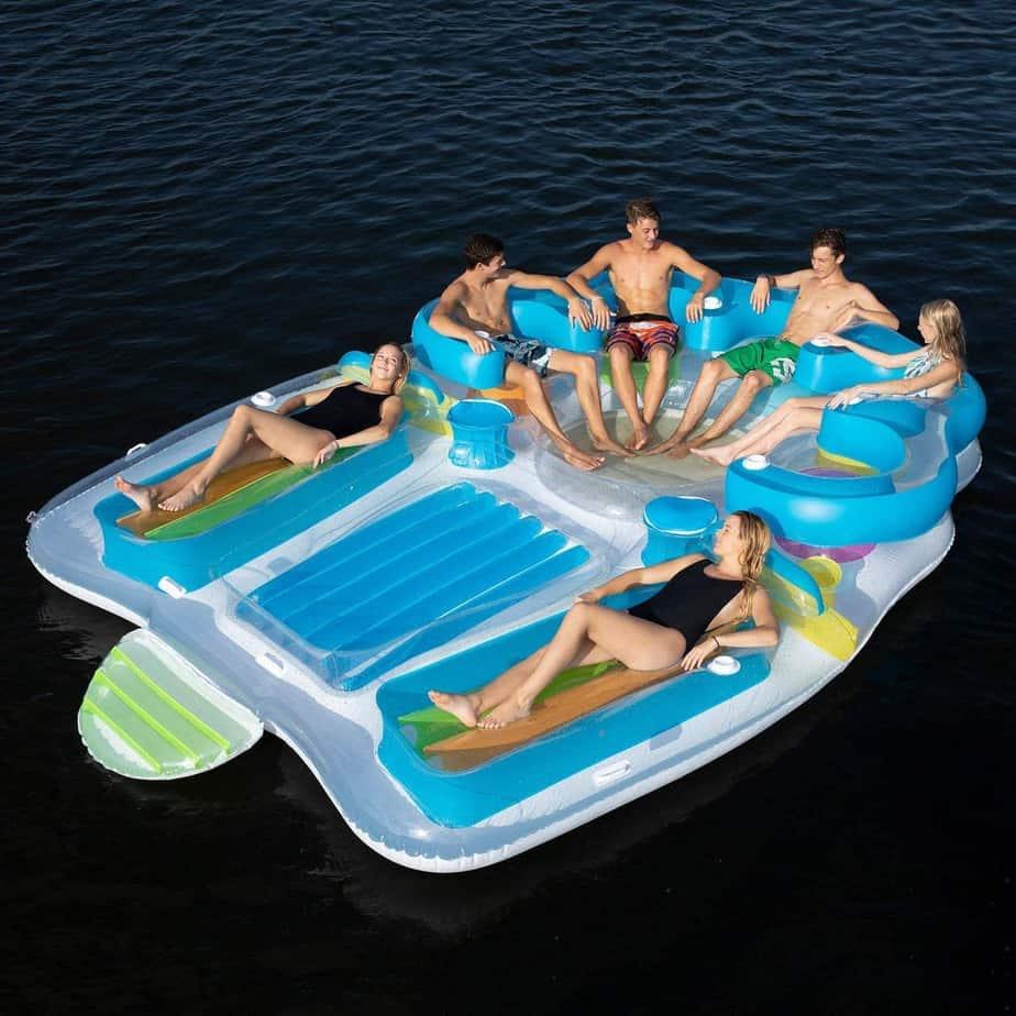 Floating Island Inflatable Raft 7 Person