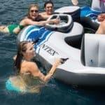 Intex Blue Tropical Island 5 Seat Floating Lounge Raft