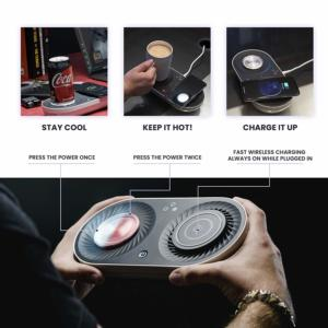 Wireless Qi-Certified Fast Charger- Mug Warmer - Cooler | Nomodo