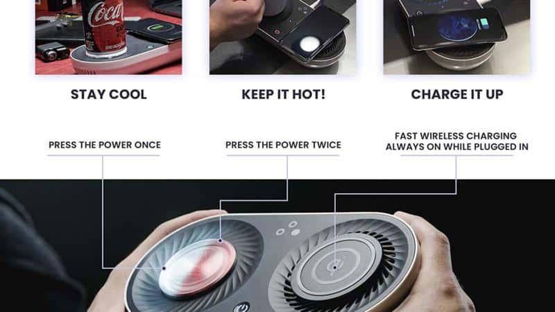 Wireless Qi-Certified Fast Charger- Mug Warmer – Cooler   Nomodo