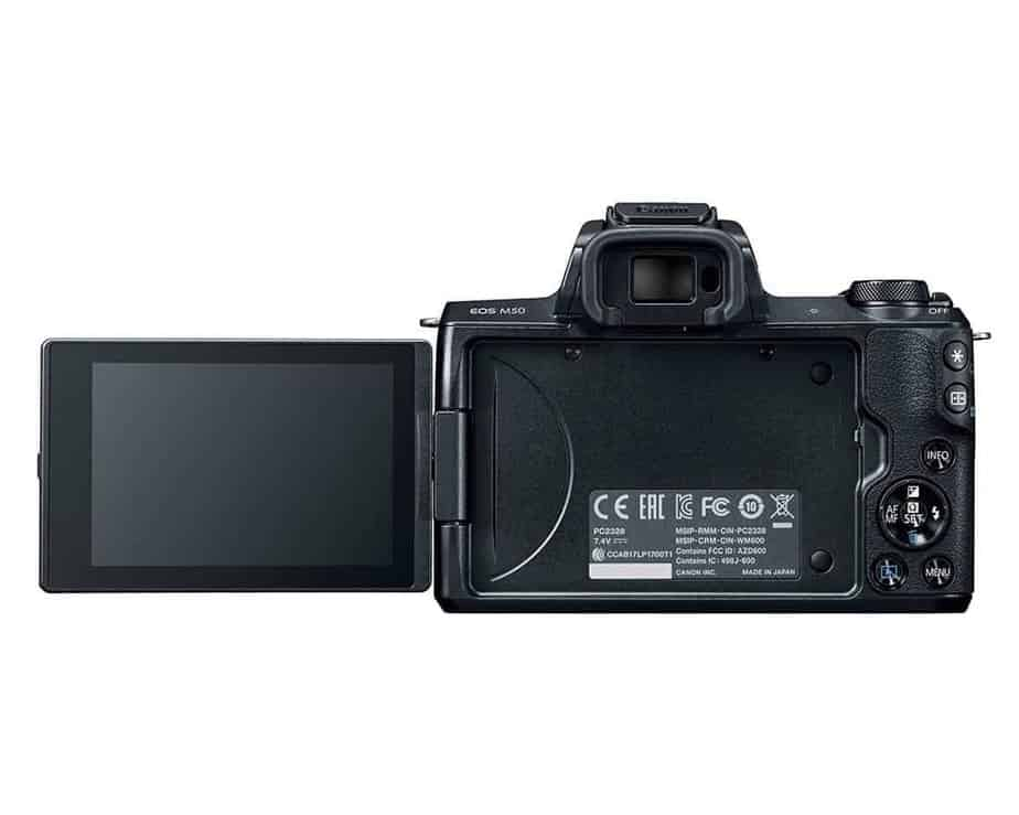 Canon EOS M50 Mirrorless Camera Back View