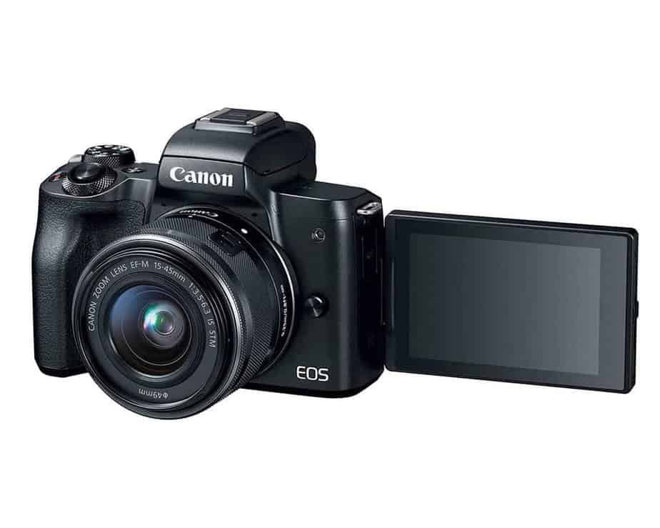 Canon EOS M50 Mirrorless Camera Reveersible Screen For Easy Picture & Video Taking