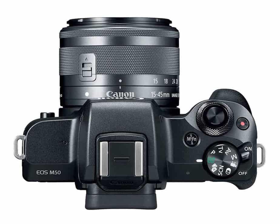 Canon EOS M50 Mirrorless Camera Top View