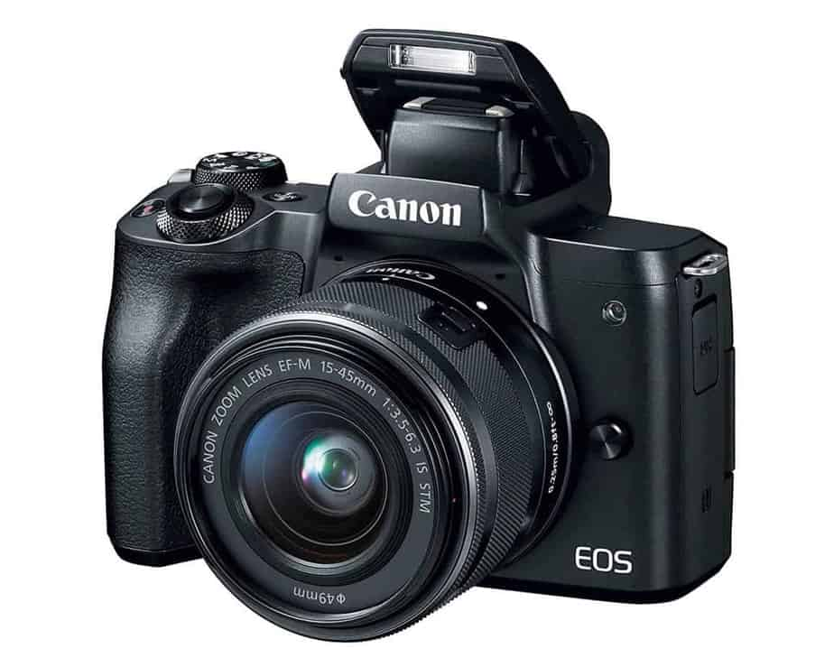 Canon EOS M50 Mirrorless Camera wih Flash