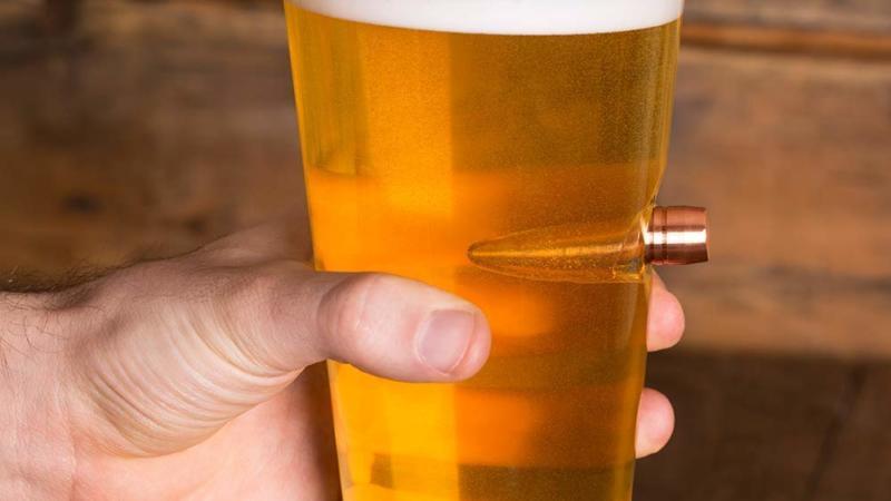 .50 Cal Real Bullet Pint Glass