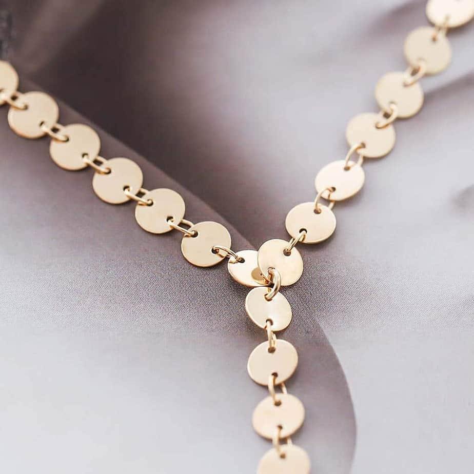 Tgirls Long Exquisite Choker Sequins Necklace