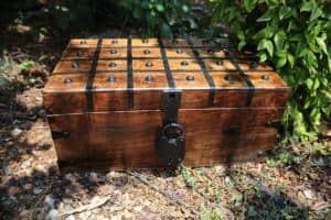 Wooden Pirate Treasure Chest