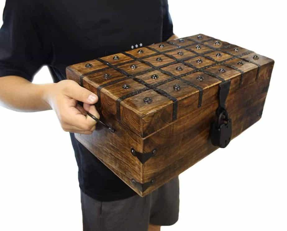 Wooden Pirate Treasure Chest Box...$70.11 on Amazon.