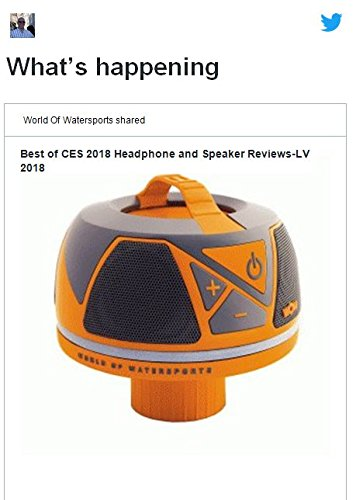 Wow World of Watersports Wow-Sound Speaker, Bluetooth, Waterproof, Shockproof, Floating Speaker