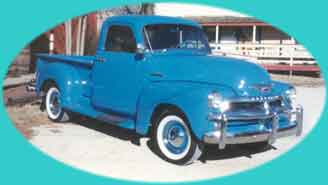 blue truck feathered oval f