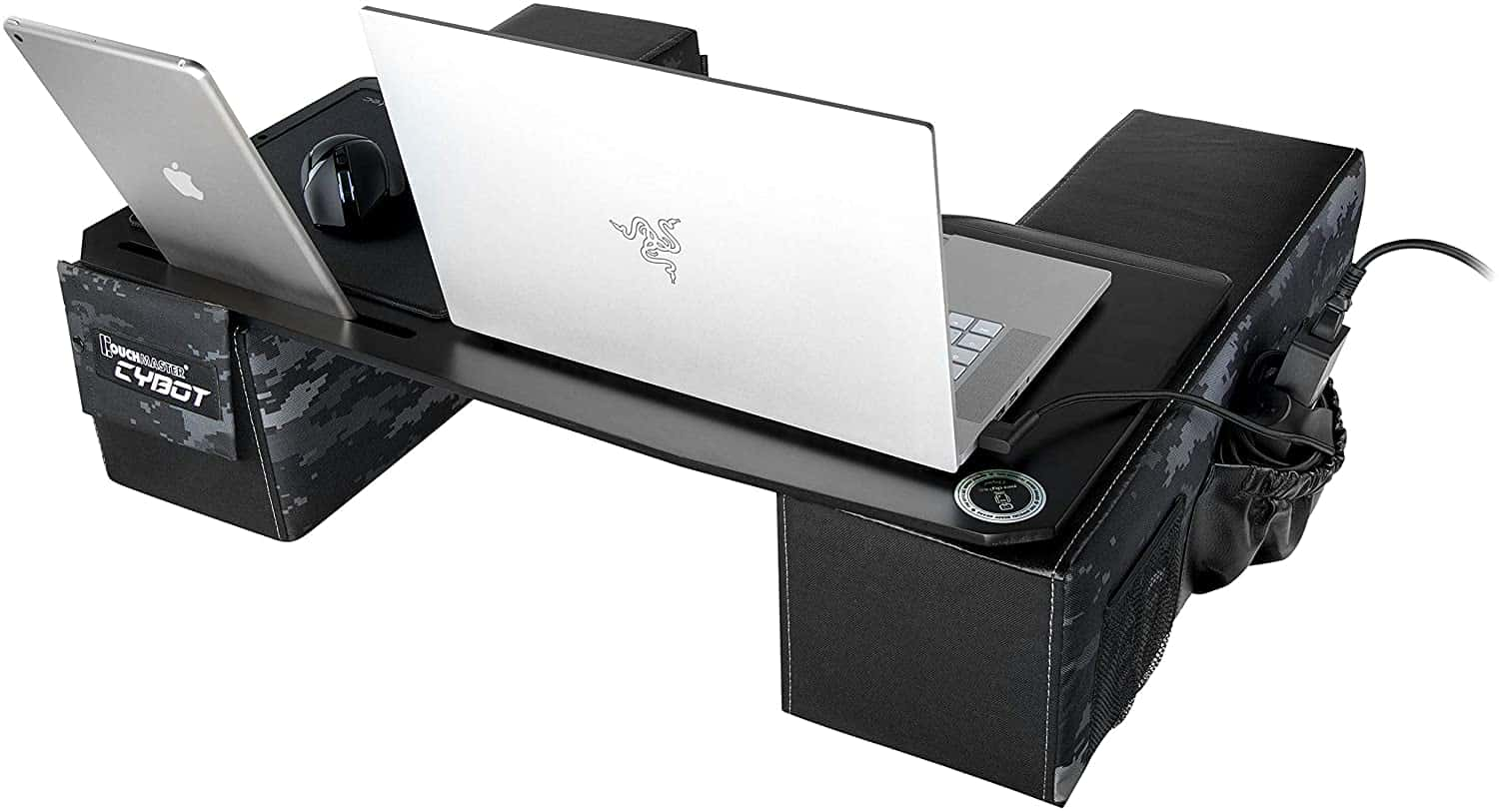 Couchmaster CYBOT - Ergonomic Lap Desk for Notebooks or Wireless Equipment, Including Pillows, Mousepad etc