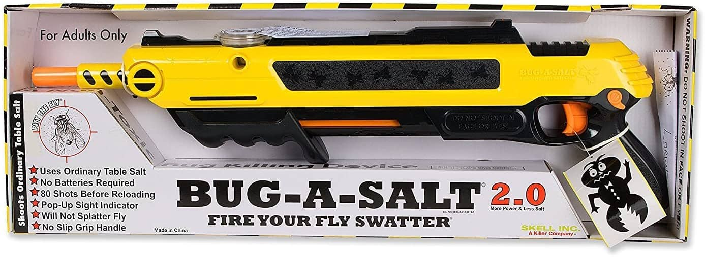Fire Your Fly Swatter- Bug-A-Salt Exterminating Shotgun