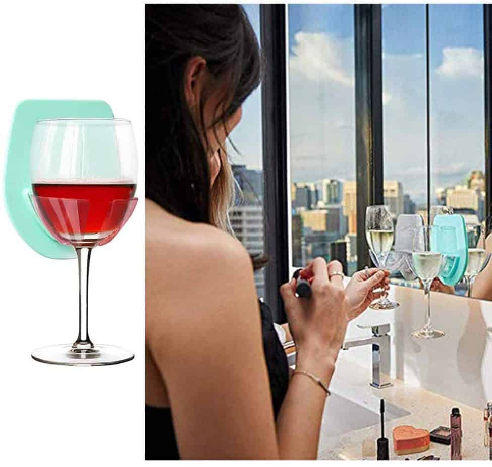Gotega Wine Glass Holder Shower
