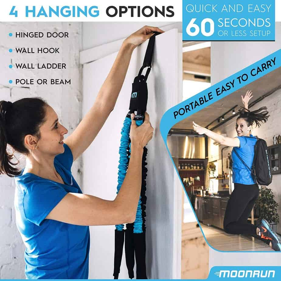 MoonRun Indoor Aerobic Trainer-4 hanging options
