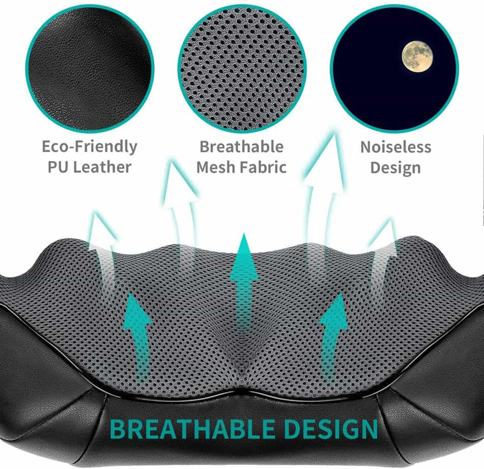 Shiatsu Neck and Back Massager -Deep Tissue 3D Kneading Massage