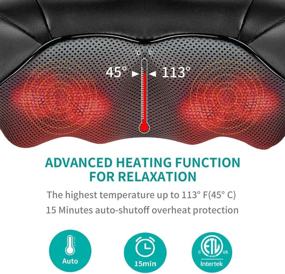 Shiatsu Neck and Back Massager with Soothing Heat
