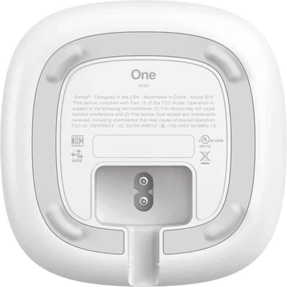 Sonos One Smart Speaker Bottom