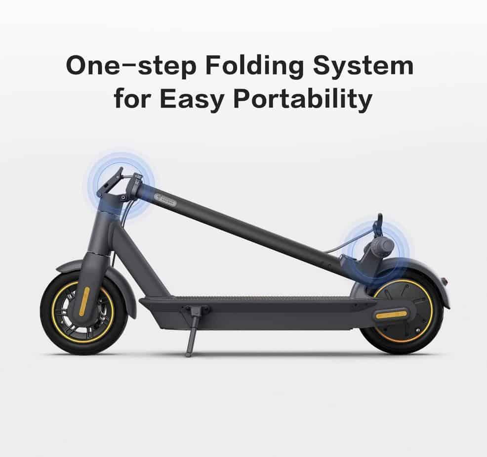 The Segway Ninebot KickScooter Foldable