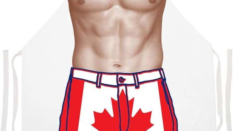 Canadian Flag Shorts Apron