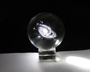 Galaxy In A Crystal Ball - Gift For Nerds