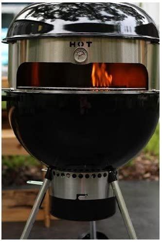 KettlePizza Basic Pizza Oven Kit for 18.5 and 22.5 Inch Weber-style Kettle Grills