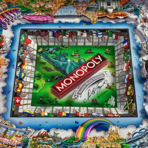 Monopoly World Edition - Family Board Game