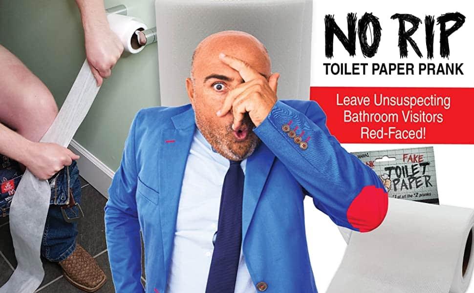 'No Tear' Funny Prank Toilet Paper