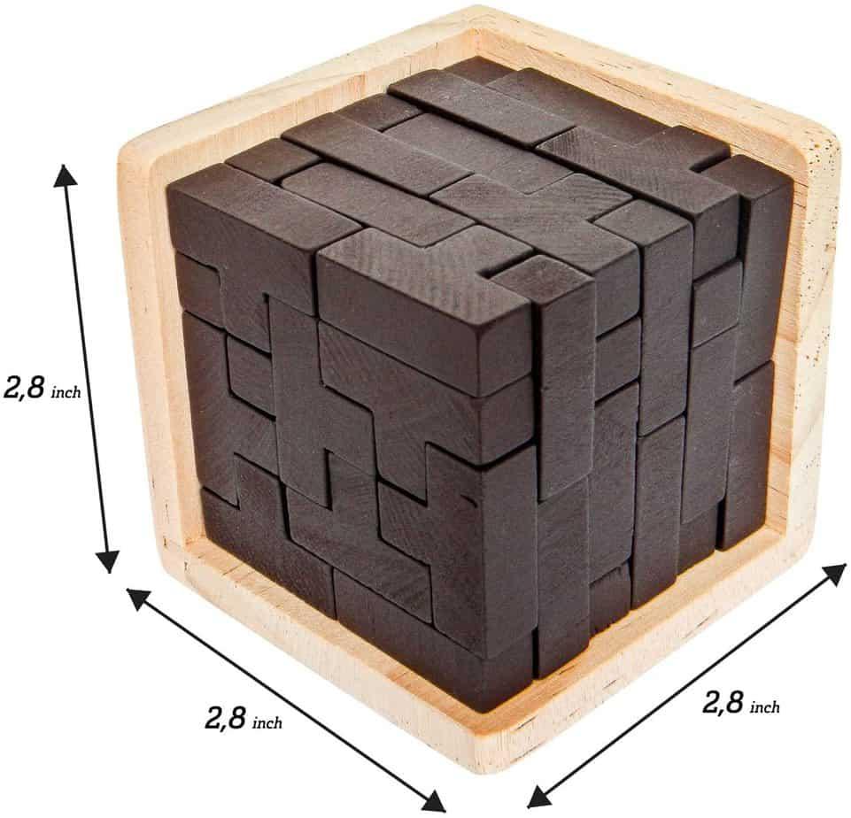 3D Wood Tetris Puzzle