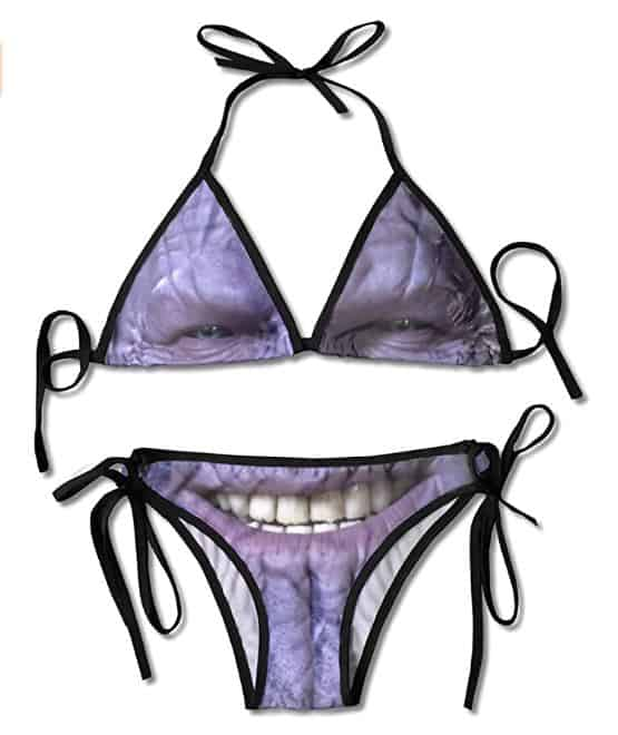 Thanos Women's Sexy Bikini Creative Swimsuit Beach Summer Bathing Suit Black