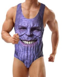 Men's One-Piece Thanos Swimsuit