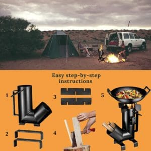 The Camping Rocket Stove with Handle