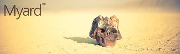 Human Skull Fireplace Logs