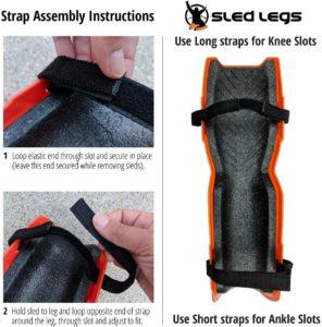 Sled Legs Wearable Snow Sleds