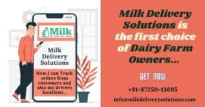 Mobile app for dairy milk delivery