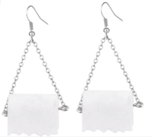 Toilet Paper Earrings For Women