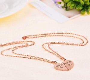 Split Heart Best Friend Necklaces