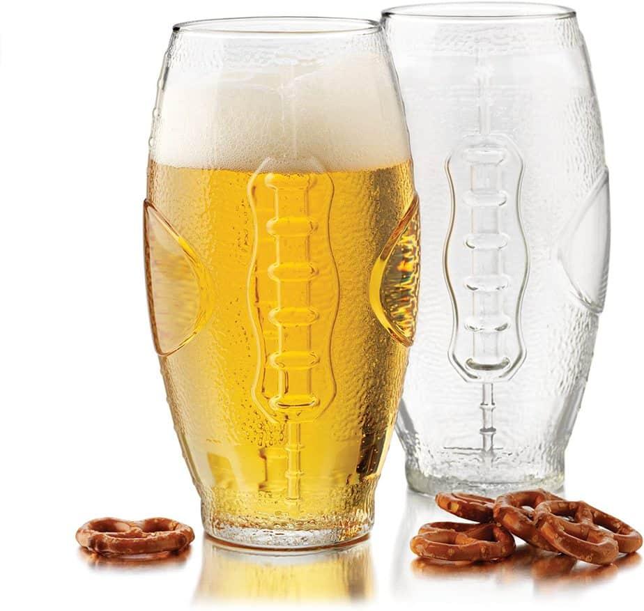 Libbey Football Tumbler Beer Glass Set