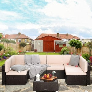 Pamapic 7 Pieces Outdoor Sectional