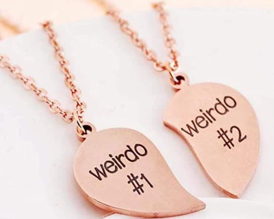 Split Heart Best Friends Necklace