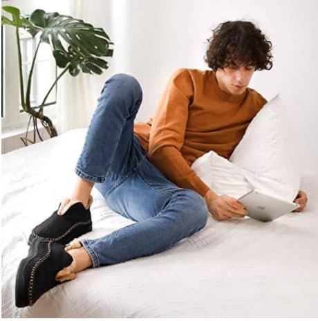 Warm Fleece Lining Moccasin Slippers