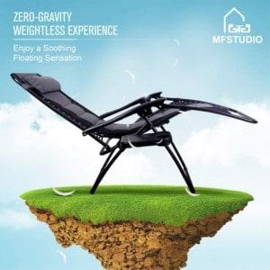 MFSTUDIO Zero Gravity Chair Large Patio Lounge Recliners